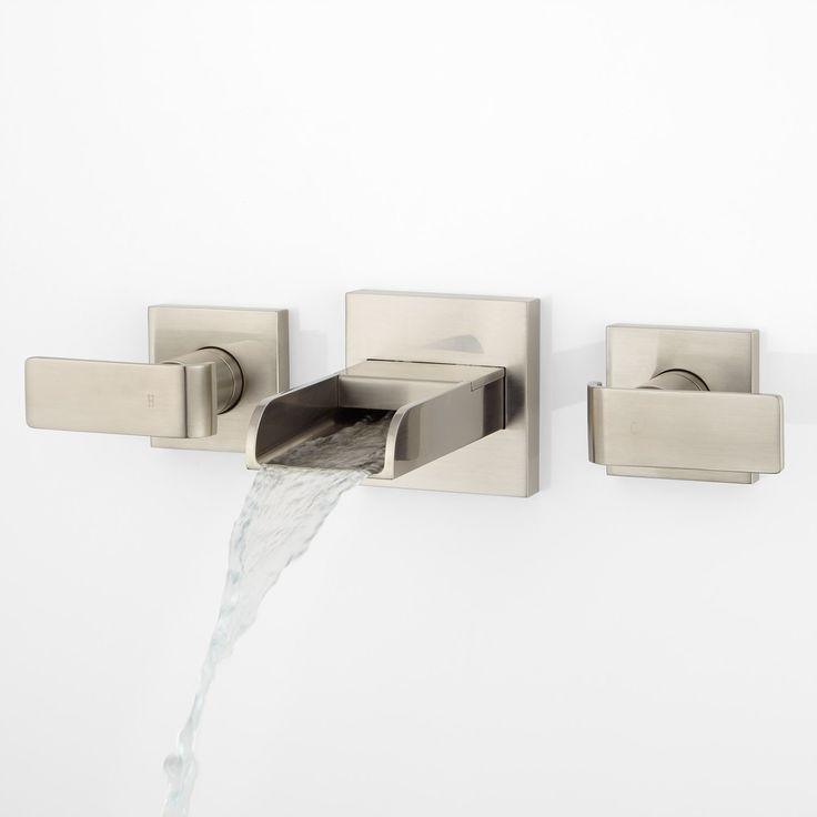Henson Hand Glazed Vessel Sink Teal Wall Mount