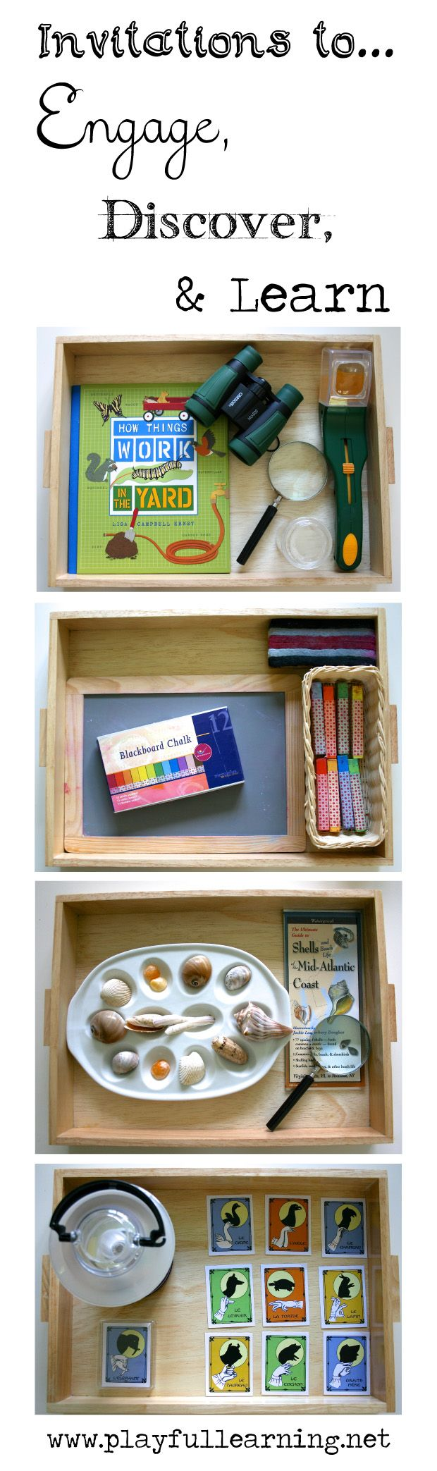 Create simple invitations to help engage your children in meaningful experiences...: Create Simple, New Old Materials, Discovery Boxes, Create Invitations, Invitations Provoc, Plays Experiment, Engagement Children, Meaningful Plays, Simple Invitations