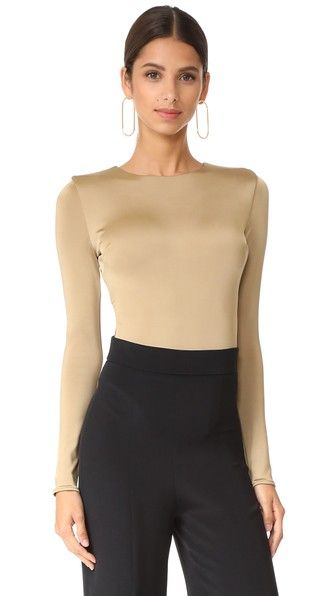 CUSHNIE ET OCHS Thong Bodysuit With Open Back. #cushnieetochs #cloth #dress #top #shirt #sweater #skirt #beachwear #activewear