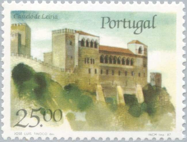 Sello: Castle of Leiria (Portugal) (Castles and Coat of arms of Portugal (5th group)) Mi:PT 1721,Sn:PT 1690,Afi:PT 1799