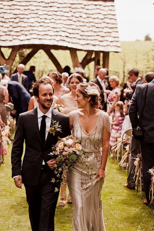 vintage inspired jenny packham wedding dress