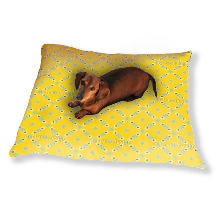 Uneekee Scandinavian Retro Flowers Dog Pillow Luxury Dog / Cat Pet Bed