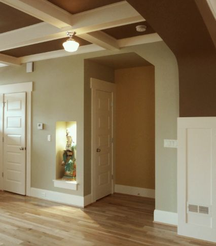 Devine cocoa a nice toasty brown on the ceiling and for Rich neutral paint colors