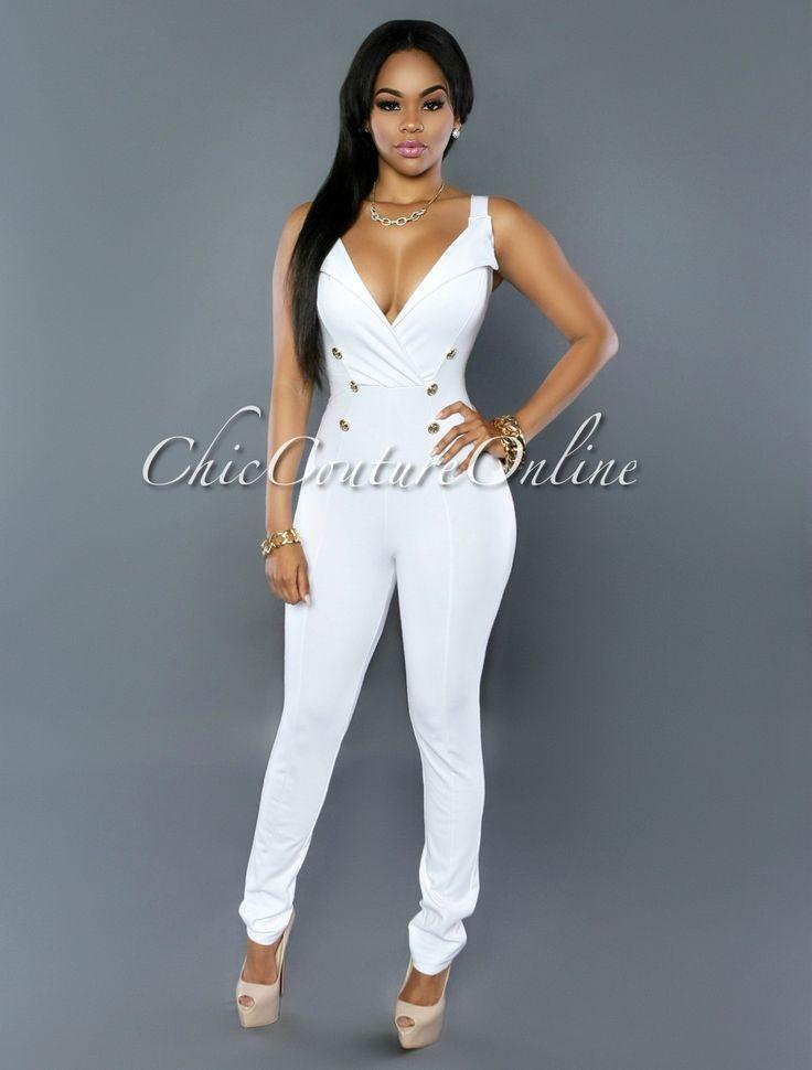 Jumpsuit dress white gold.