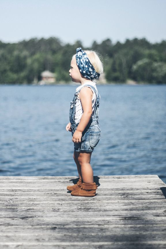 Overalls, head wrap and Moccasins= BoHo baby perfection| kids clothes, kids fashion, children's fashion