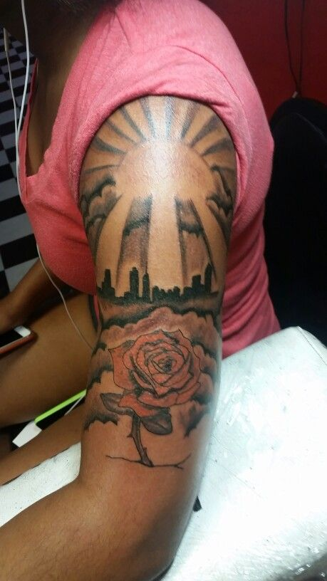 custom tattoo free hand rose sun rays tattoos pinterest best tattoo free custom tattoo. Black Bedroom Furniture Sets. Home Design Ideas