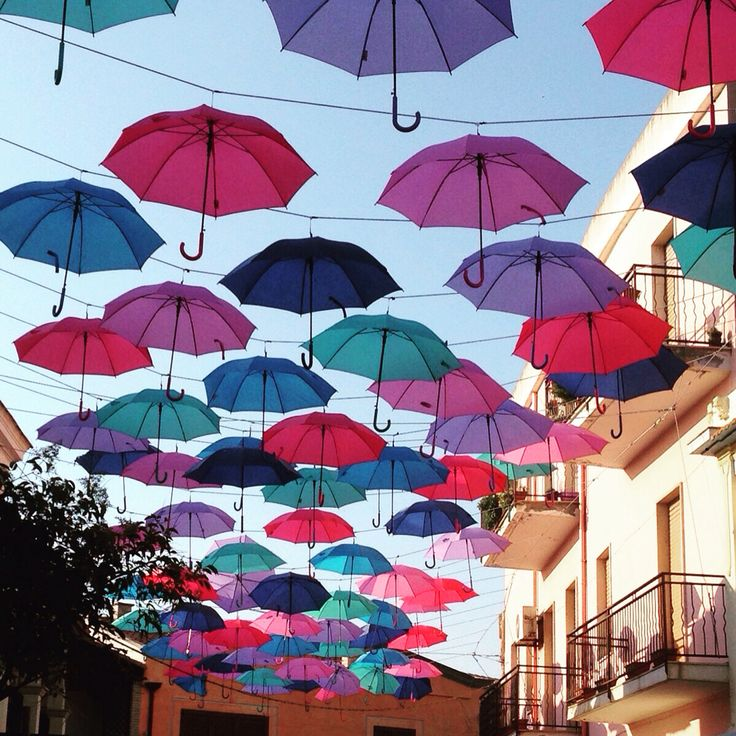 Umbrellas Street in Pula - Sardinia