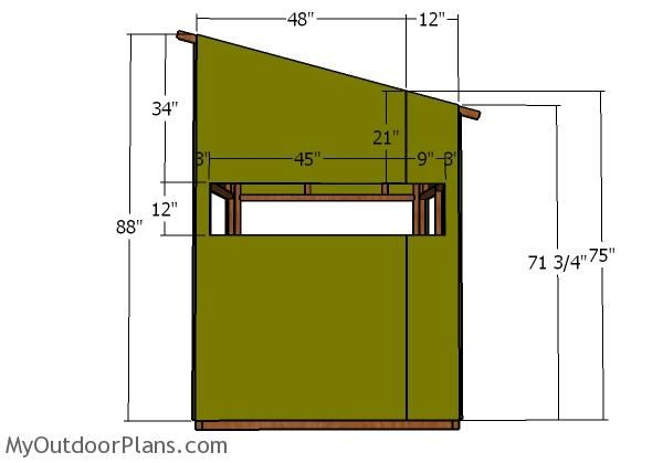 5x5 Shooting House Roof Plans Myoutdoorplans Free Woodworking Plans And Projects Diy Shed Wooden Playhouse Pe Shooting House Deer Stand Deer Blind Plans