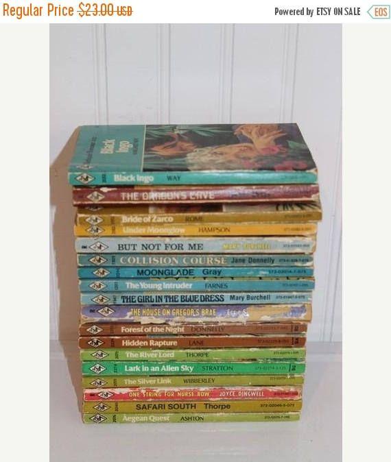 25% Off SALE Lot of 18 Vintage Harlequin Romance Paperback Books