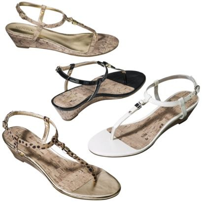 Women's Merona® Etha Cork Low Wedge Sandal - Assorted Colors -Target- $19.99 and less than a 2 inch heel