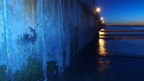 sea wall blue