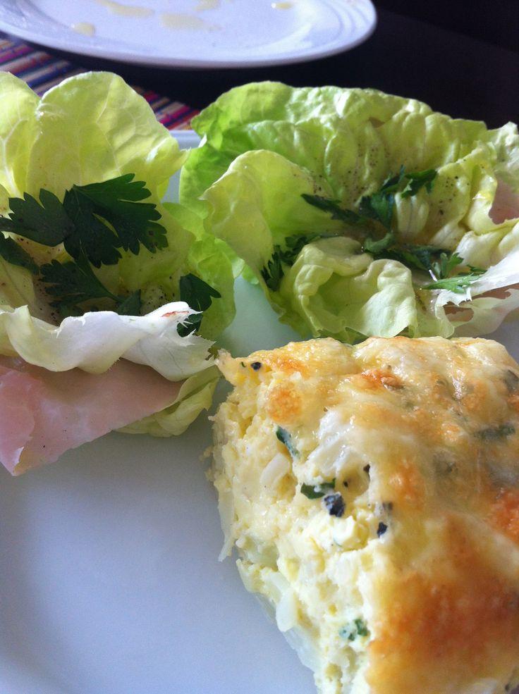 Omelete de forno light com couve-flor