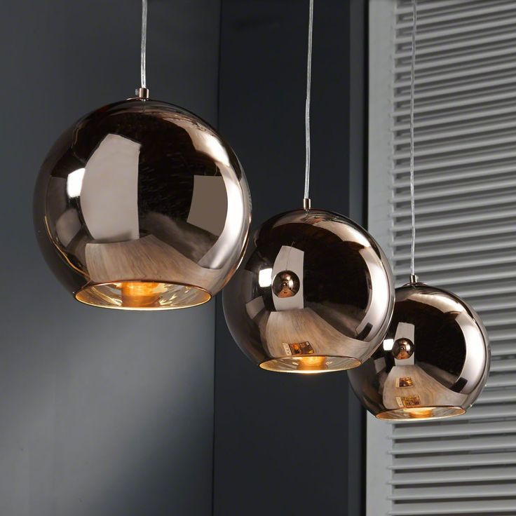 Hanglamp jeffery 3 lamps in koperkleur z 23 8218 for Grosse suspension design
