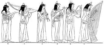 ancient egyptian street musicians