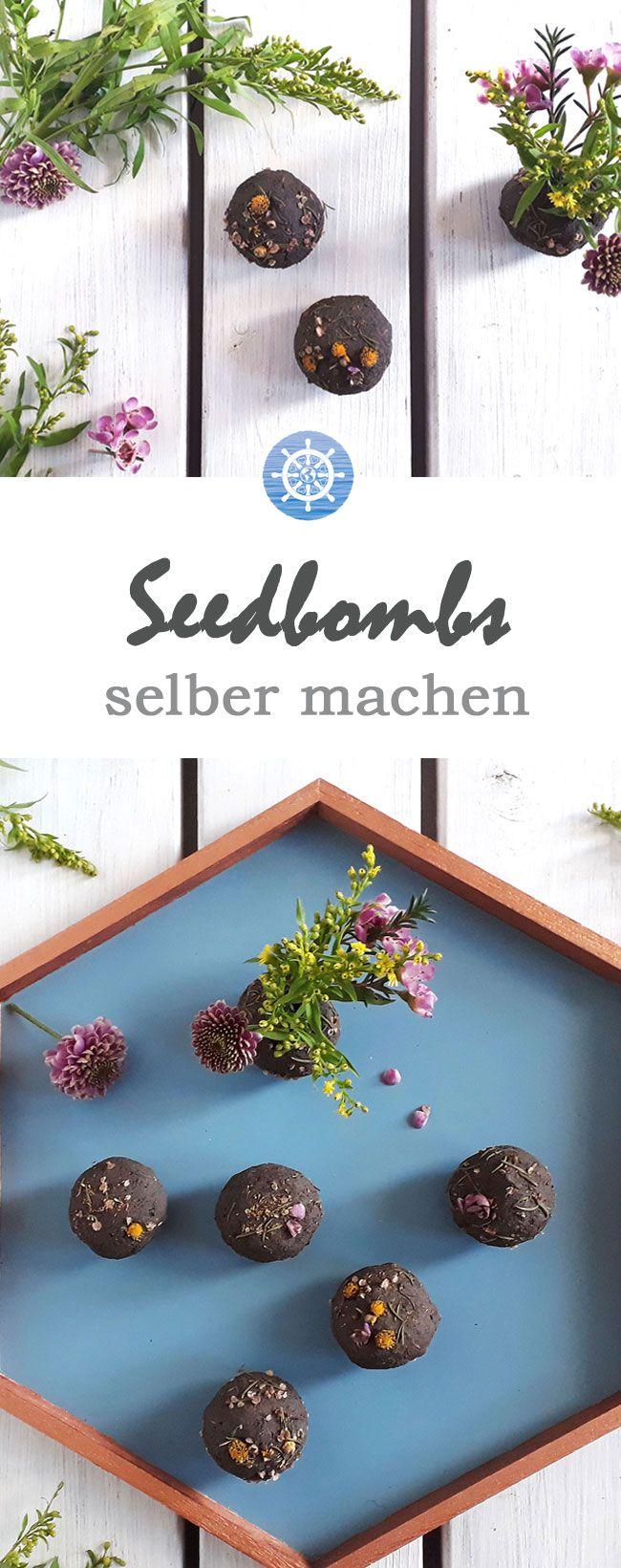 Seedbombs selber machen – Perfektes Geschenk für Ostern, Hochzeit, Muttertag & Co. – DIY-Anleitung via aye-aye-diy.com
