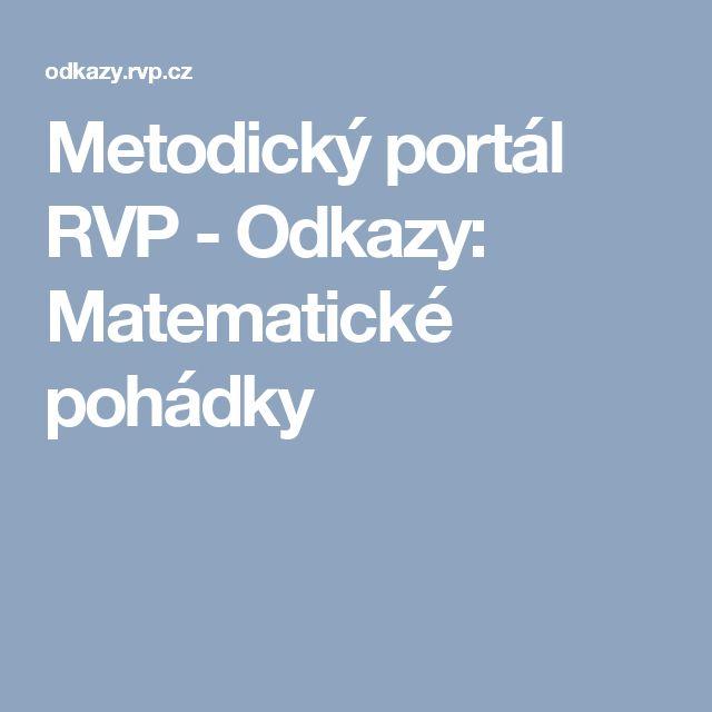 Metodický portál RVP - Odkazy: Matematické pohádky