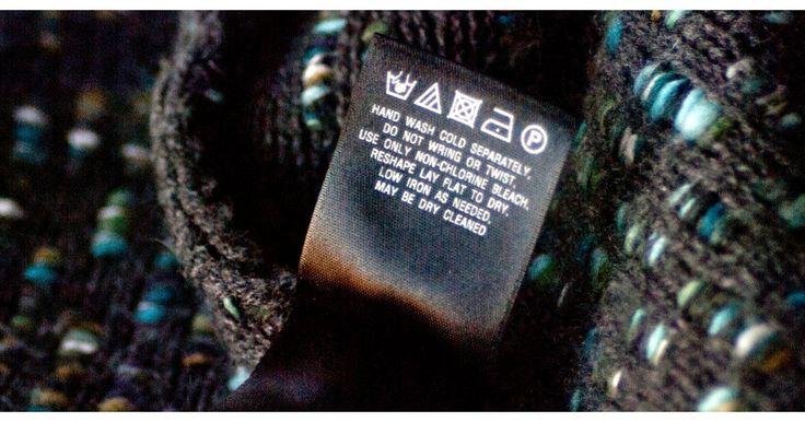 Decode laundry labels