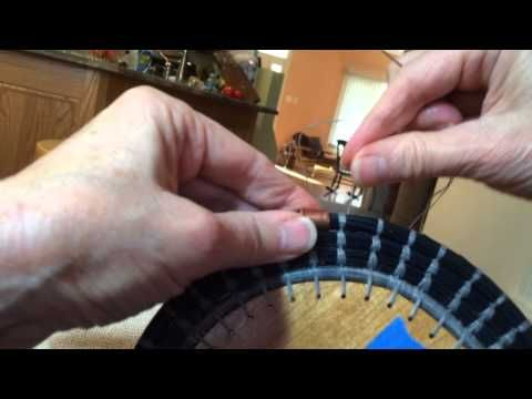 Ti Stitch for pine needle coiling - YouTube