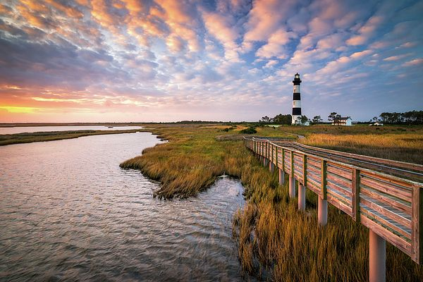 Bodie Island Lighthouse at the Outer Banks of North Carolina. Landscape photography by Dave Allen www.daveallenphotography.com