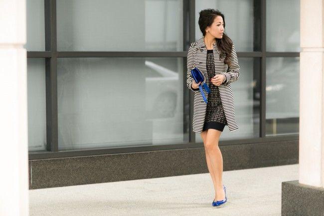 :: Outfit ::  Top :: Loft trench   Dress :: AllSaints  Shoes :: Gucci   Bag :: Chanel  Accessories :: watch thanks to Michele, David Yurman bracelet & bangle,  Deborah Lippmann 'It's raining men' polish