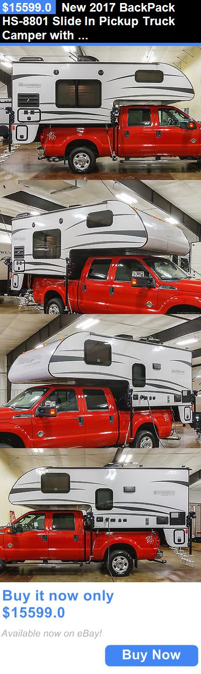rvs: New 2017 Backpack Hs-8801 Slide In Pickup Truck Camper With Toilet And Shower BUY IT NOW ONLY: $15599.0