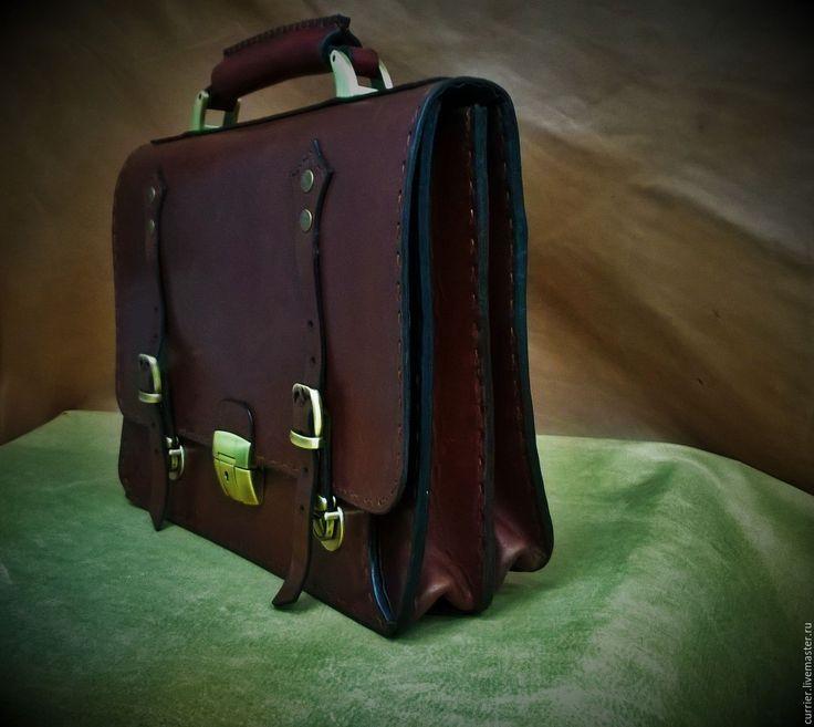 Купить Портфель - портфель из кожи, портфель, портфель мужской, портфель ручной работы, портфель кожаный