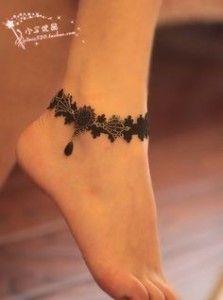 Ankle Bracelet Tattoos 37
