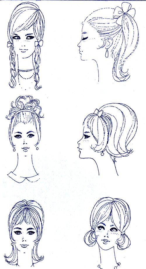 1960s hair styles for Decade Day on Spirit Week : Shop RubyLane.com for vintage #1960s scarves and hair accessories