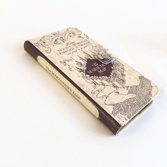 Harry Potter Marauder's Map iPhone 6 flip Wallet case-Harry by chicklitdesigns