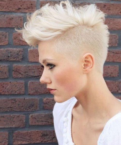 Shaved Hairstyles shaved hairstyle_21 Sides Shaved Hairstyles 2017 Medium Messy Mohawk
