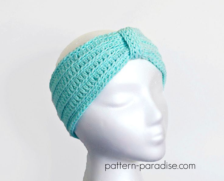#free #crochet #pattern for spa tranquility turban headband, headwrap by Pattern-Paradise.com #patternparadisecrochet #headband