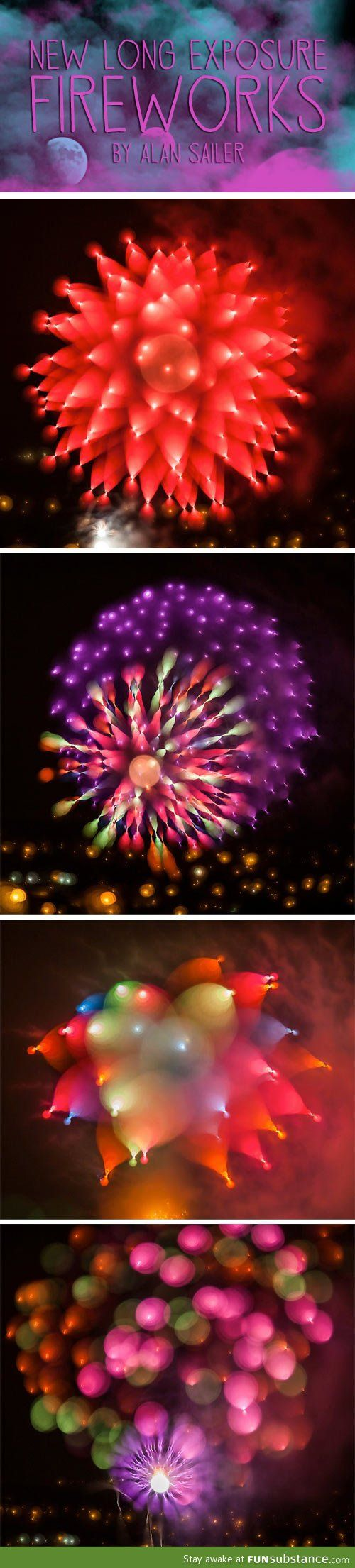 Long exposure fireworks.