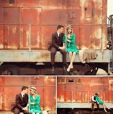 Engagement picture - Train station
