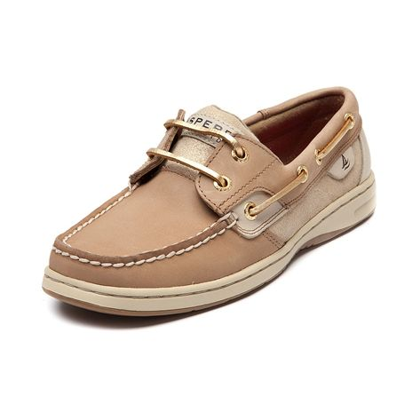 Shop for Womens Sperry Top-Sider Bluefish Boat Shoe in Tan Gold at Journeys Shoes. Shop today for the hottest brands in mens shoes and womens shoes at Journeys.com.Boat shoe by Sperry featuring a leather upper with shimmery gold suede side panels, top stitching on toe, and matching gold leather laces.