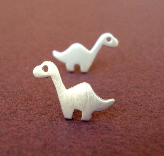 SALE 10% Sterling Silver Dino Studs Dinosaur Earrings Brontosaurus Studs Dinosaur Post Earrings Teen Jewelry Kids Jewelry