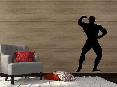 Wall Vinyl Sticker Sports Fitness Bodybuilder Mr. Olympia Art Unique Gift (n072)