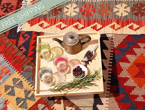 Small Tribal Rugs to Layer, Scatter or Hang on THEHOME.COM.AU
