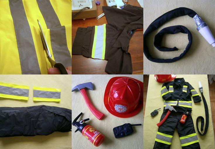 Fireman costume DIY http://tulipanowiec.blogspot.com/2014/12/bal-przebierancow-stroj-strazaka.html