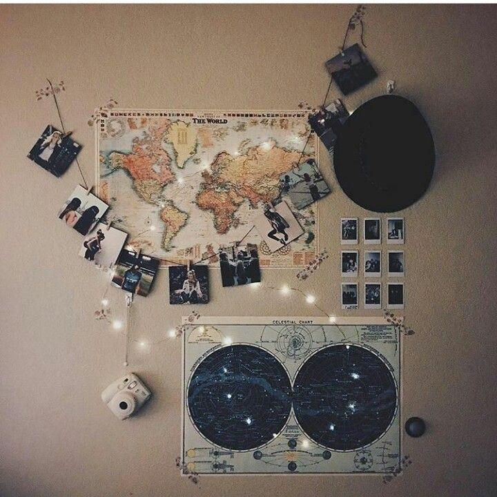 volgende jaar: die johannesburg poster (in plaas van wereld kaart), monica vlag (in plaas van constelations poster), fairy light/garland thing waaraan fotos hang en dan klein fotos (in plaas van polaroids) (eerder as die wit en swart ding wat nou aan die gang is) :)