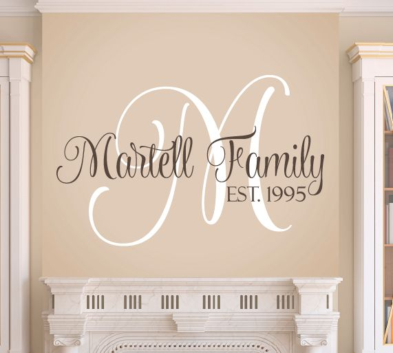 Unique Monogram Wall Decals Ideas On Pinterest Personalized - Custom vinyl wall decals sayings for family roomitems similar to entry wall quote family wall decals home family