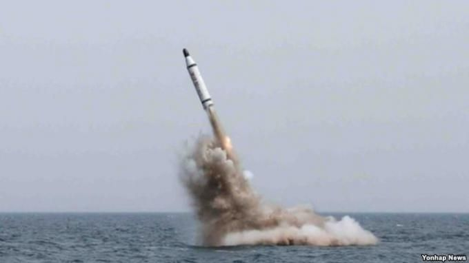 Amerika Murka Korea Utara Luncurkan Rudal Balistik Kapal Selam