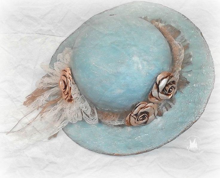 Καπέλο με γυψόγαζα και πηλό!!