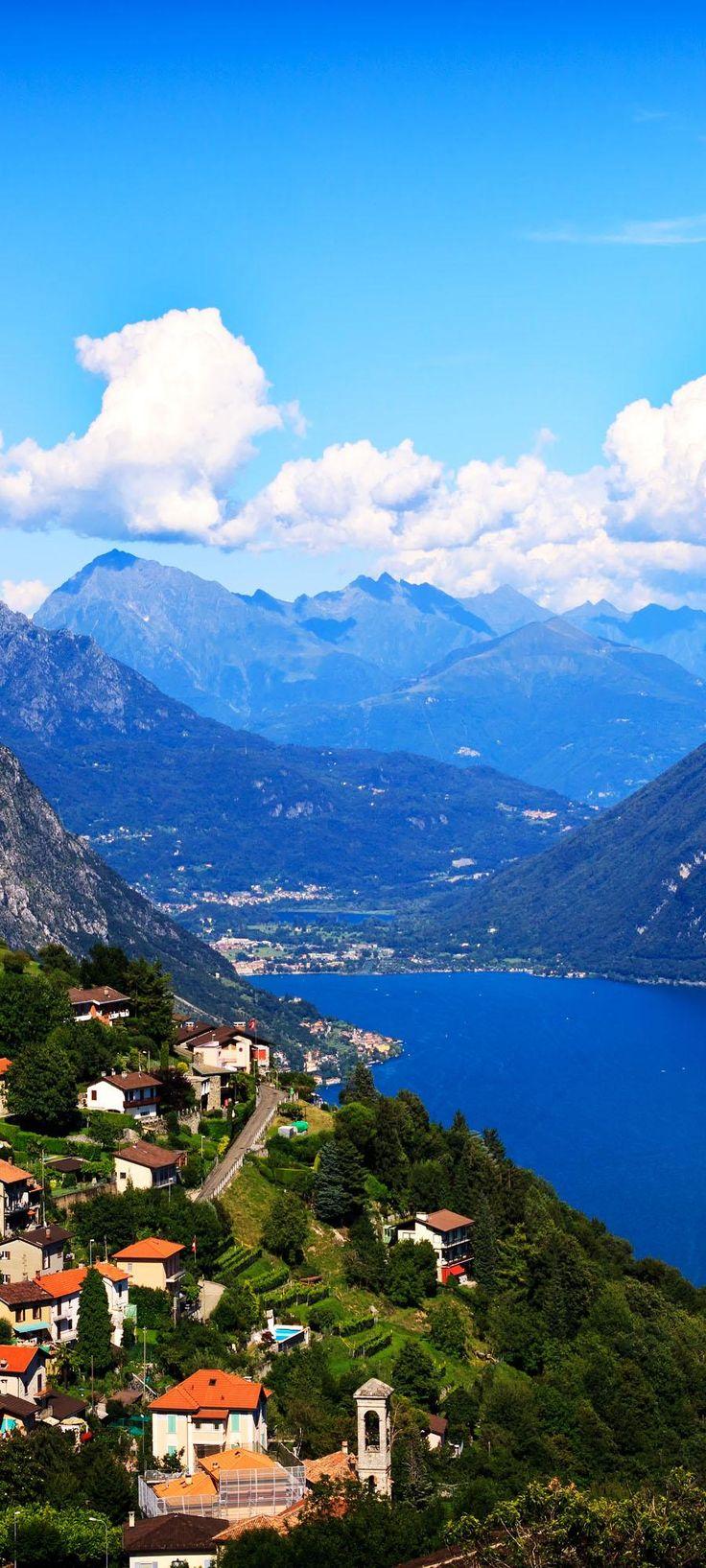 la ciudad de Lugano con la vista del lago de Lugano |  Fotografía increíble de las ciudades y Señales famosas de alrededor del mundo