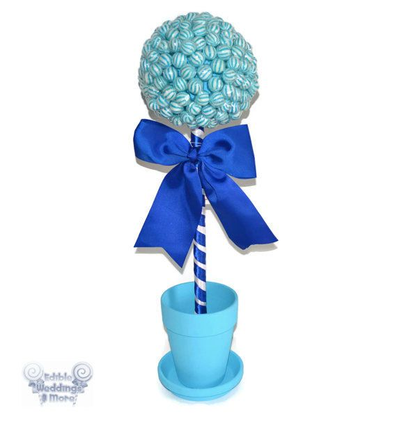Large Blue Lollipop Topiary Candy Topiary by EdibleWeddings, $54.99