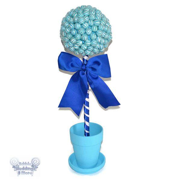 Large Blue Lollipop Topiary Candy Topiary by EdibleWeddings, $54.99