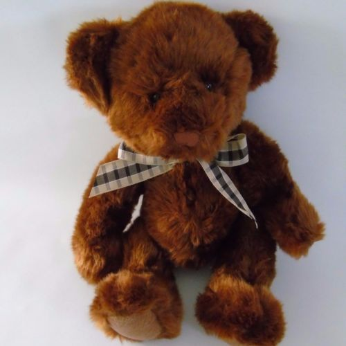 Classic-Brown-Teddy-Bear-Russ-Berrie-Plush-Toy-Applause-Stuffed-Animal