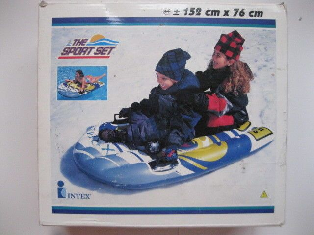 Sno-Boggan Inflatable Snow Sled Snow Tube or Water Float  | eBay
