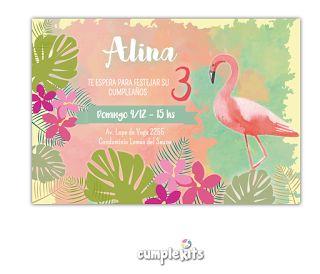 Invitación imprimible personalizada. Creá un cumpleaños tropical con este CumpleKit :)