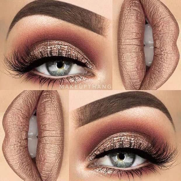 21 Makeup Ideas for Thanksgiving Dinner: #13. GLAM METALLIC; #makeup #makeupideas