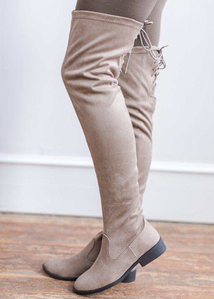 #kneehigh #boots #shoes #neutrals